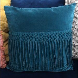 Velvet Fringe Pillow- Square *Opalhouse*